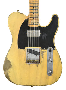 Fender Custom Shop 51 Telecaster Heavy Relic Masterbuilt by Dale Wilson Faded Nocaster Blonde R97330 | The Music Gallery | Front Close