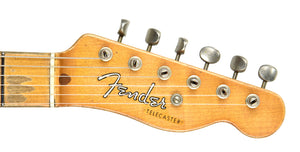 Fender Custom Shop 51 Telecaster Heavy Relic Masterbuilt by Dale Wilson Faded Nocaster Blonde R97330 | The Music Gallery | Headstock front