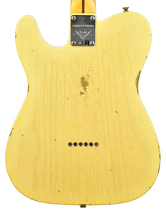 Fender Custom Shop 52 H/S Telecaster Relic Faded Nocaster Blonde R99284 - The Music Gallery