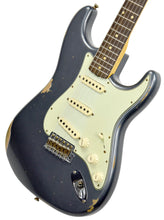 Fender Custom Shop 61 Stratocaster Relic Charcoal Frost Metallic CZ543022 - The Music Gallery