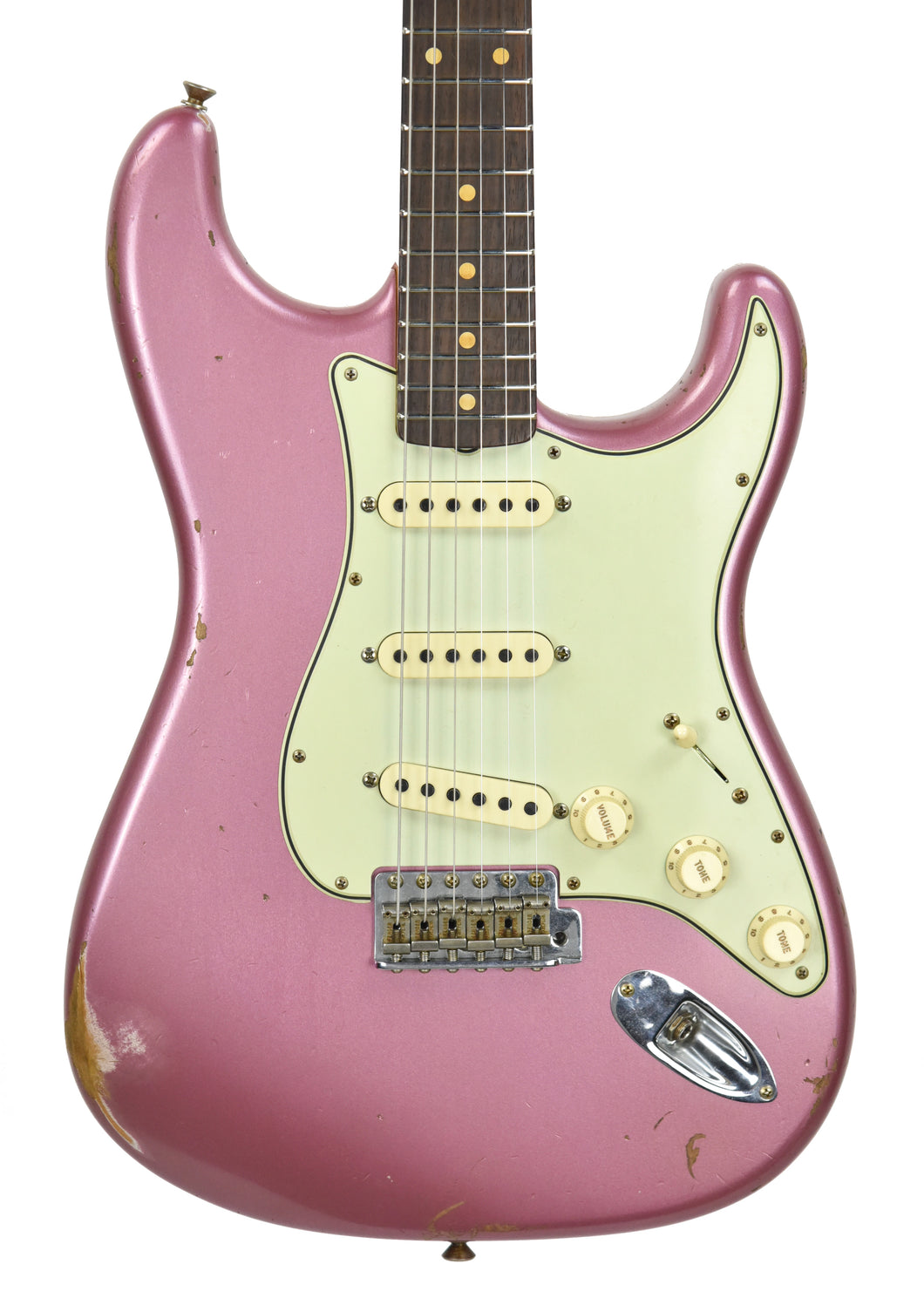 Fender Custom Shop 61 Stratocaster Relic in Burgundy Mist Metallic CZ542891 - The Music Gallery