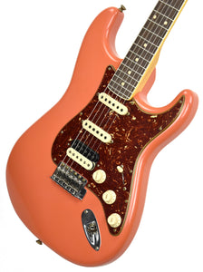 Fender Custom Shop Postmodern Strat HSS Journeyman Relic Fiesta Red/Salmon Pink  XN11602