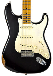 Fender Custom Shop LTD NAMM Roasted 56 Stratocaster Relic in Aged Black CZ541917 - The Music Gallery