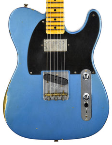 Fender Custom Shop 52 HS Telecaster Relic in Lake Placid Blue R99182 | The Music Gallery | Front Close