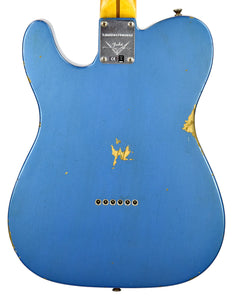 Fender Custom Shop 52 HS Telecaster Relic in Lake Placid Blue R99182 | The Music Gallery | Back Close