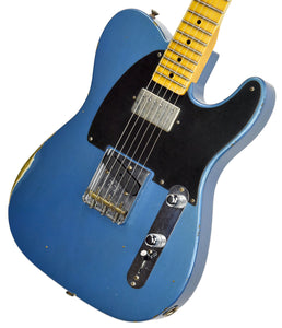 Fender Custom Shop 52 HS Telecaster Relic in Lake Placid Blue R99182 | The Music Gallery | Front Angle 1