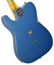 Fender Custom Shop 52 HS Telecaster Relic in Lake Placid Blue R99182 | The Music Gallery | Back Angle 2