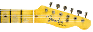 Fender Custom Shop 52 HS Telecaster Relic in Lake Placid Blue R99182 | The Music Gallery | Headstock Front