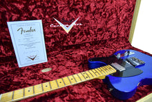 Fender Custom Shop 52 HS Telecaster Relic in Cobalt Blues Trans R99434 | The Music Gallery | Open Case Certificate