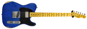 Fender Custom Shop 52 HS Telecaster Relic in Cobalt Blues Trans R99434 | The Music Gallery | Front Far