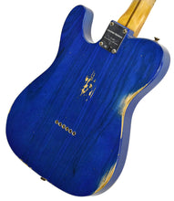 Fender Custom Shop 52 HS Telecaster Relic in Cobalt Blues Trans R99434 | The Music Gallery | Back Angle 1