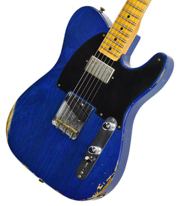 Fender Custom Shop 52 HS Telecaster Relic in Cobalt Blues Trans R99434 | The Music Gallery | Front Angle 1