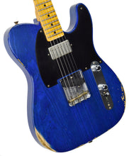 Fender Custom Shop 52 HS Telecaster Relic in Cobalt Blues Trans R99434 | The Music Gallery | Front Angle 2