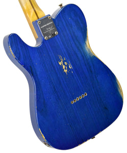 Fender Custom Shop 52 HS Telecaster Relic in Cobalt Blues Trans R99434 | The Music Gallery | Back Angle 2
