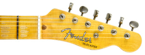 Fender Custom Shop 52 HS Telecaster Relic in Cobalt Blues Trans R99434 | The Music Gallery | Headstock Front