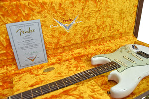 Fender Custom Shop 61 Stratocaster Relic in Olympic White CZ542942