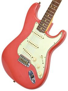 Fender Custom Shop 63 Stratocaster Journeyman Relic in Fiesta Red R100615 - The Music Gallery