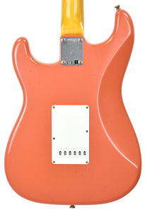 Fender Custom Shop 63 Stratocaster Journeyman Relic Fiesta Red/Salmon Pink R98152