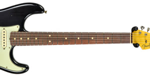 Fender Custom Shop 63 Stratocaster Journeyman Relic in Black R100581 - The Music Gallery