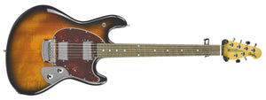 Ernie Ball Music Man StingRay in Vintage Sunburst - Front Full