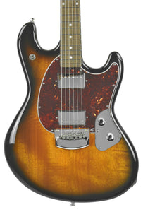 Ernie Ball Music Man StingRay in Vintage Sunburst - Front