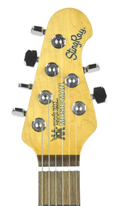 Ernie Ball Music Man StingRay in Vintage Sunburst - The Music Gallery - Headstock Front