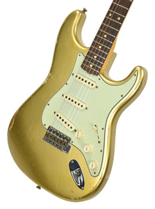 Fender Custom Shop 61 Stratocaster Relic Aztec Gold Metallic CZ542953 - The Music Gallery