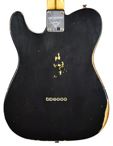 Fender Custom Shop 52 HS Telecaster Relic in Black R99020 | The Music Gallery | Back Close