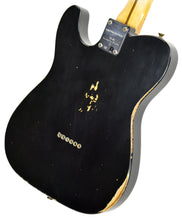 Fender Custom Shop 52 HS Telecaster Relic in Black R99020 | The Music Gallery | Back Angle 2