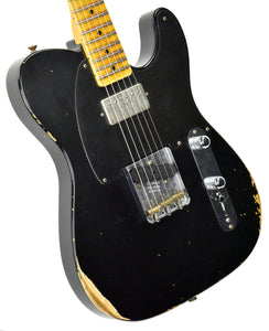 Fender Custom Shop 52 HS Telecaster Relic in Black R99020 | The Music Gallery | Front Angle 1