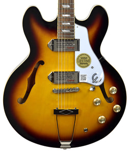 Epiphone Casino in Vintage Sunburst 19051524373 | The Music Gallery | Front Close