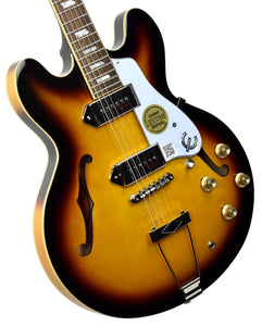 Epiphone Casino in Vintage Sunburst 19051524373 | The Music Gallery | Front Angle 1
