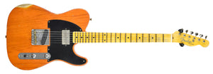 Fender Custom Shop 52 H/S Telecaster Relic in Sunset Orange Transparent R99028 - The Music Gallery