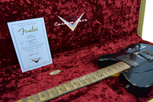 Fender Custom Shop H/S 52 Telecaster Relic Masterbuilt by Dale Wilson in Aged Black over Nocaster Blonde R99616 - The Music Gallery