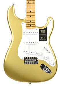 Fender® American Original '50s Stratocaster® in Aztec Gold | Front Small