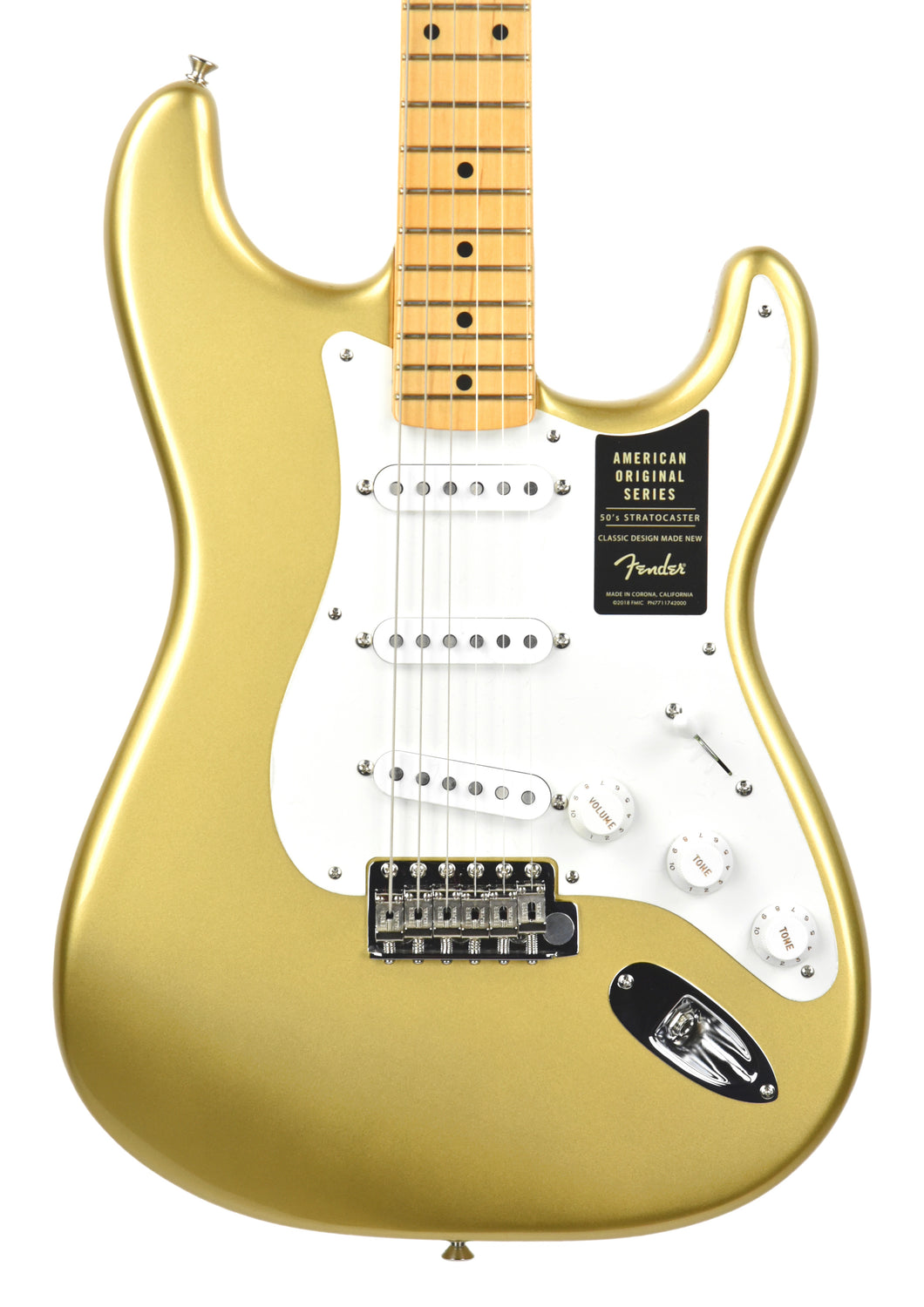Fender® American Original '50s Stratocaster® in Aztec Gold V1857779 - The Music Gallery