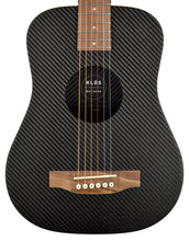 Klos Hybrid Carbon Fiber Acoustic Electric Travel Guitar in Black 155025 - The Music Gallery