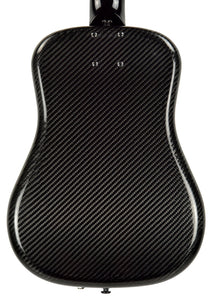 Klos Hybrid Carbon Fiber Acoustic Electric Travel Guitar in Black 155025 | The Music Gallery | Back Close