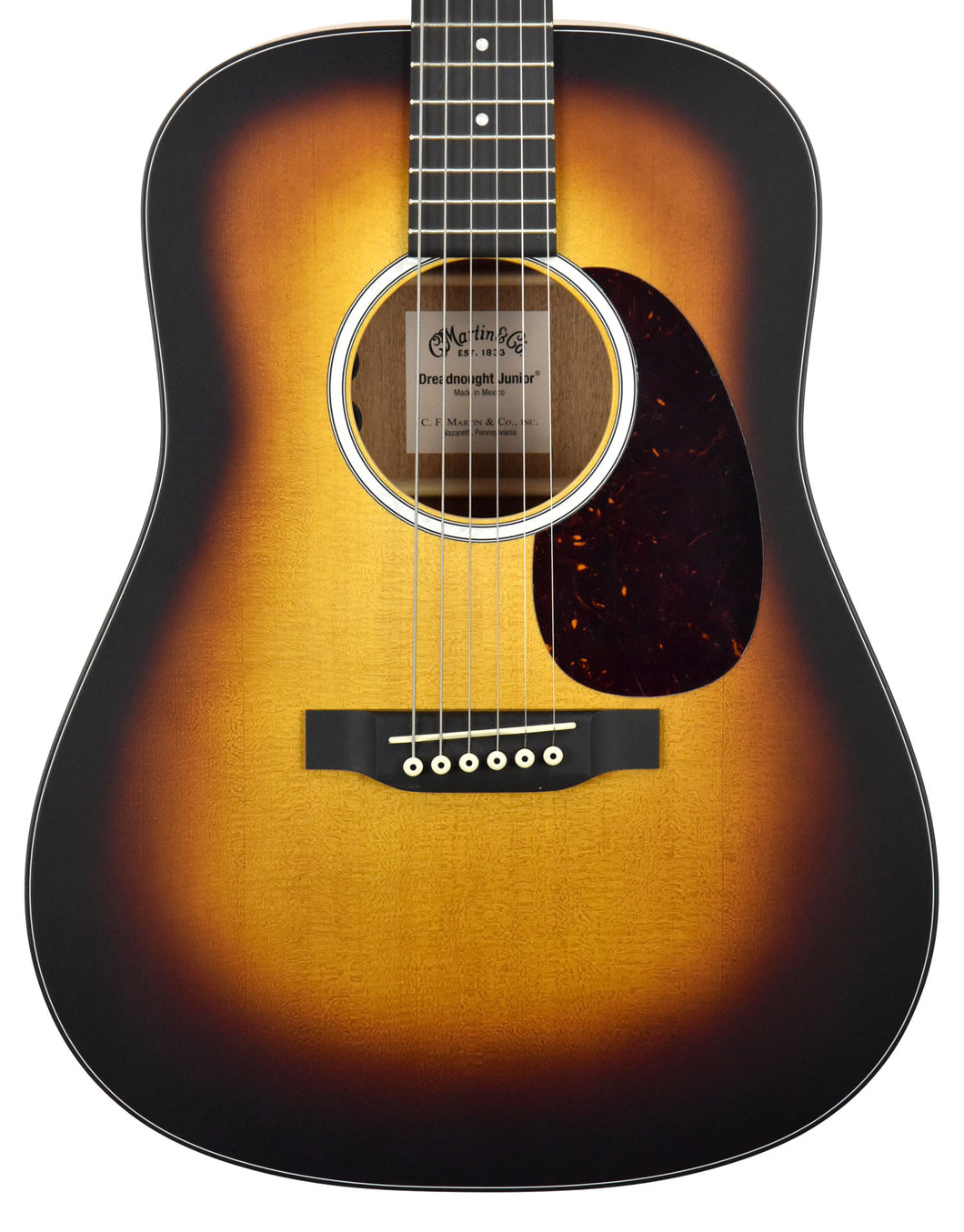Martin DJr-10e Burst Acoustic Electric Guitar 2267315 - The Music Gallery