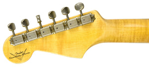 Fender Custom Shop Postmodern HSS Stratocaster Relic in Salmon Pink XN11532 | The Music Gallery | Headstock Back