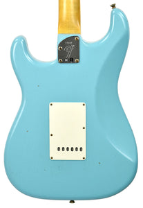 Fender Custom Shop Postmodern HSS Stratocaster Relic in Daphne Blue XN11542 | The Music Gallery | Back Close