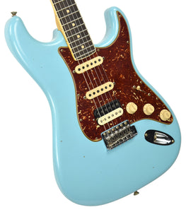 Fender Custom Shop Postmodern HSS Stratocaster Relic in Daphne Blue XN11542 | The Music Gallery | Front Angle 2