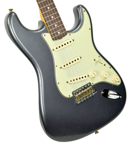Fender Custom Shop 63 Stratocaster Journeyman Relic Charcoal Frost R100566 - The Music Gallery