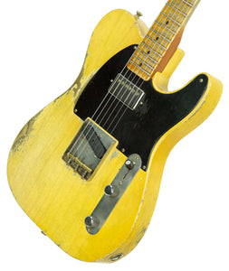 Fender Custom Shop 1951 Telecaster Heavy Relic Faded Nocaster Blonde Masterbuilt by Dale Wilson | The Music Gallery | Front Angle 1