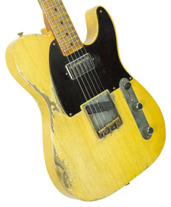 Fender Custom Shop 1951 Telecaster Heavy Relic Faded Nocaster Blonde Masterbuilt by Dale Wilson | The Music Gallery | Front Angle 2