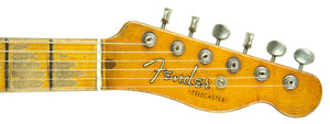 Fender Custom Shop 1951 Telecaster Heavy Relic Faded Nocaster Blonde Masterbuilt by Dale Wilson | The Music Gallery | Headstock Front