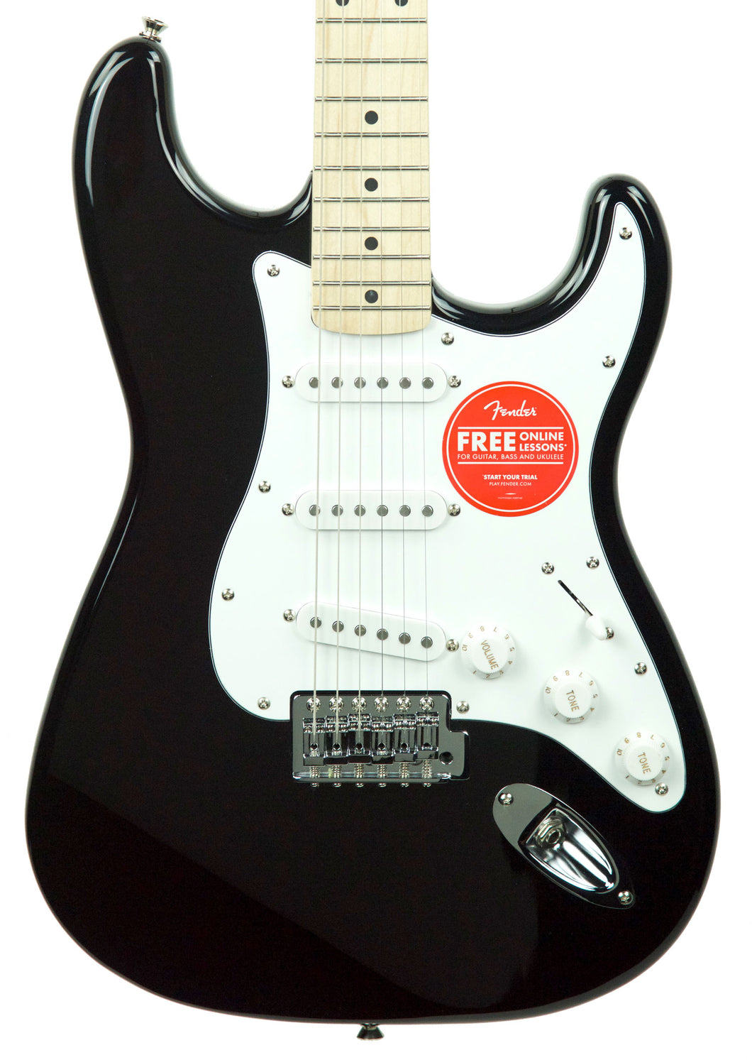 Squier Affinity Stratocaster Maple Neck in Black CY190301104 - The Music Gallery