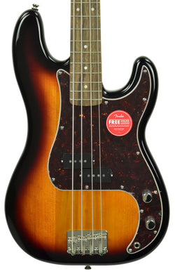 Squier Classic Vibe 60's P Bass in 3 Tone Sunburst | The Music Gallery | Front Close