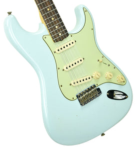 Fender Custom Shop 1963 Stratocaster Journeyman Relic in Sonic Blue R99983