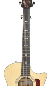 Taylor 414ce-R Acoustic Guitar with V Class Bracing | Fretboard
